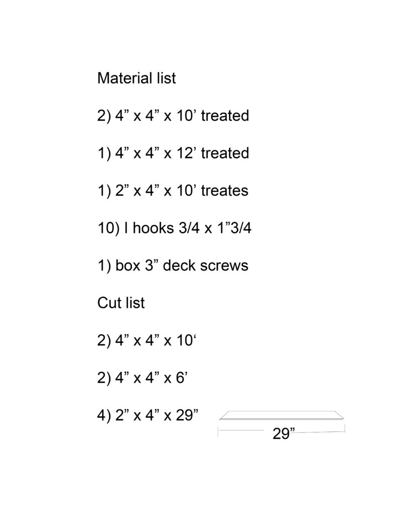 How to make build a clothesline Jon Peters Art Home – Material List