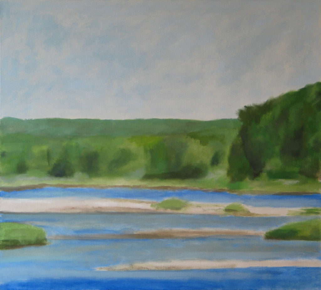 Navesink River, View from Sea Bright. 2010 oil on canvas 36 x 40