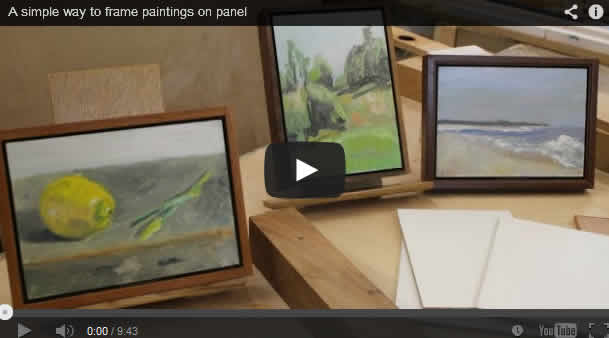A simple way to frame paintings on panel