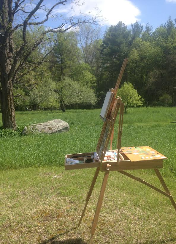 Spent the weekend painting in the Berkshires with artist Francis Cunningham