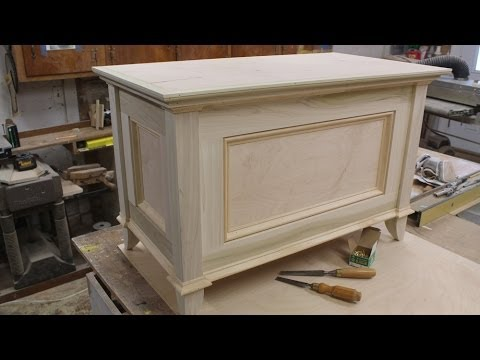 Build a blanket chest part 2, making the top.