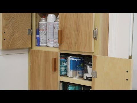 Build a paint can storage cabinet part 2