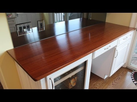 Build a wooden countertop part 3 finished and installed