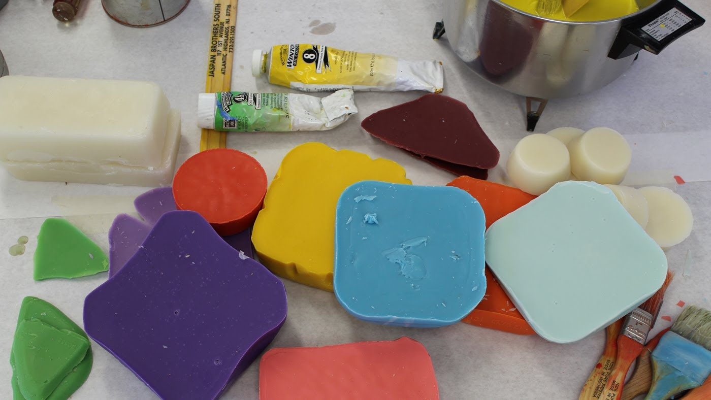 Encaustic workshop part 1 how to make medium and color