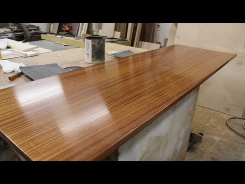 Finishing a wooden countertop - Jon Peters Art & Home