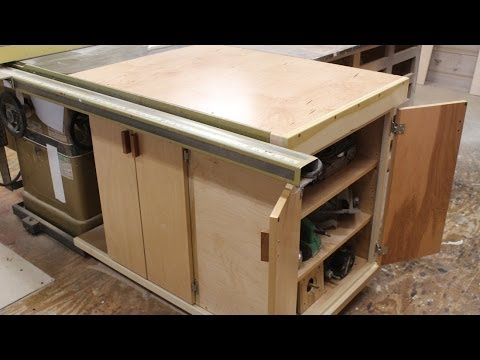 Finishing the table saw storage cabinet