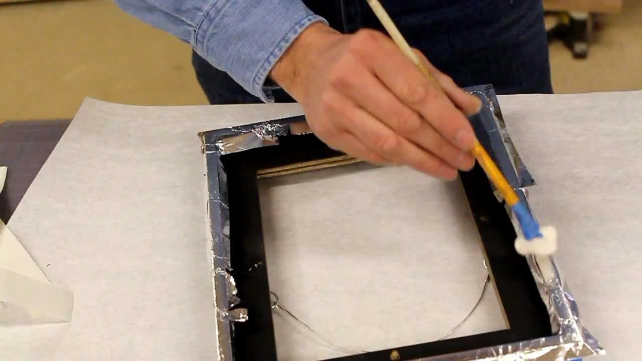 Gild, gold leaf – aluminum leaf a frame