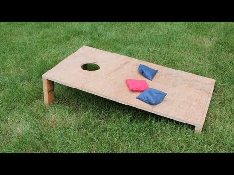 How to make a corn toss / corn hole game