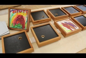 How To Make a Frame For Your Kid's Art.