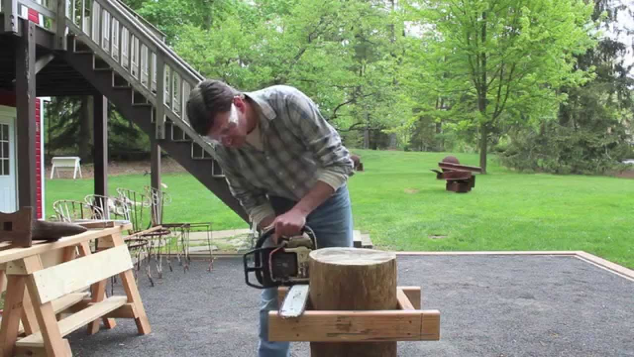 How to make a level cut with a Chainsaw
