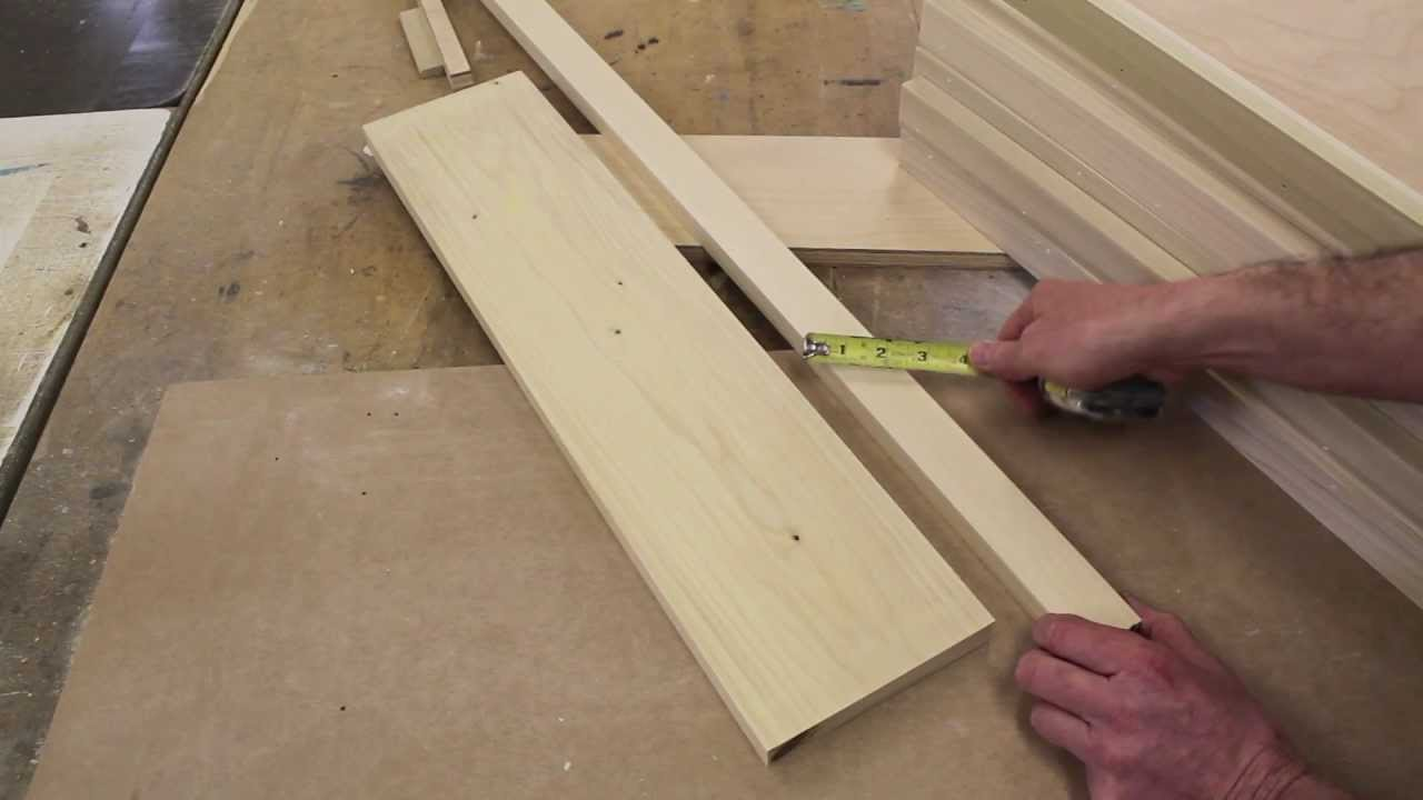 How to make wooden bookcase shelves