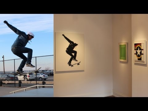 In the studio, Skateboard Art & a few tips on laminating plexiglass or formica