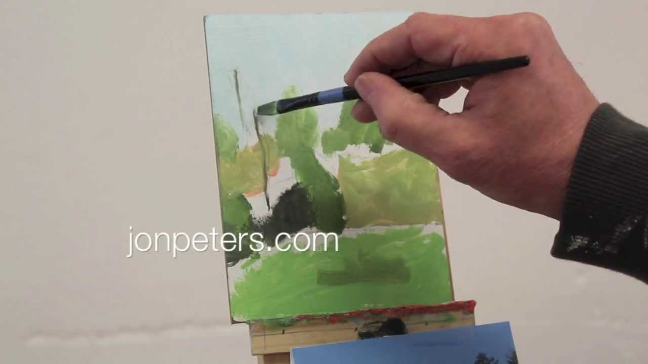 Intro to Painting, class #4. Meadow, Bethel Vermont 4 / 14 / 2014