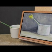Intro to Painting, class #8. Cup and Daffodil Bud