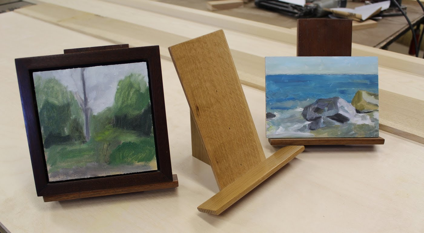 make a small art display easel jon peters art home