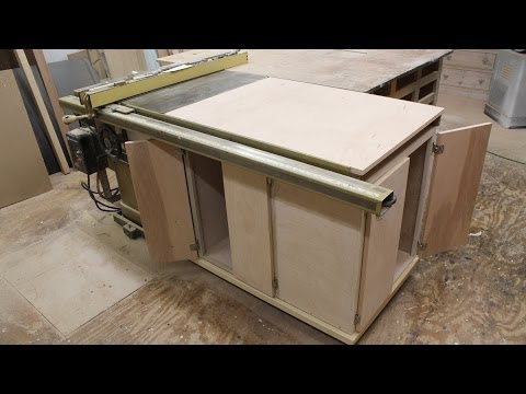 Make a table saw storage cabinet
