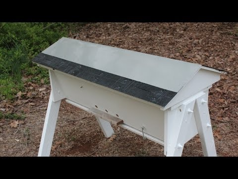 Make an aluminum roof for a Top Bar Bee Hive.