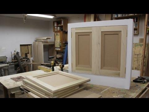 Make and hang flat panel cabinet doors