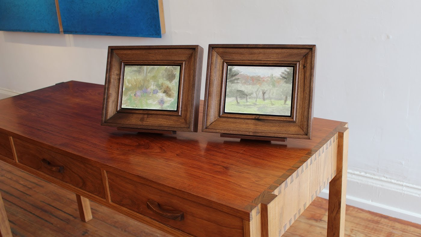 Make wooden picture frame out of solid Walnut - Jon Peters Art & Home