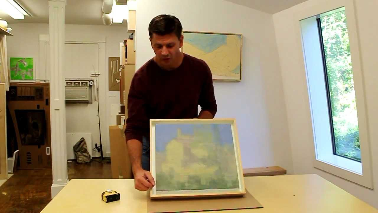 Making a shadow box frame for a painting by the artist Stuart Shils ...