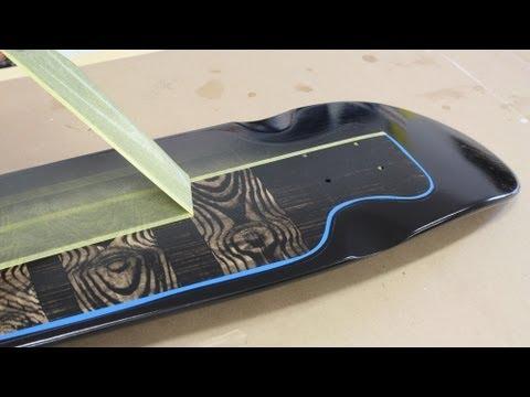 Paint a skateboard