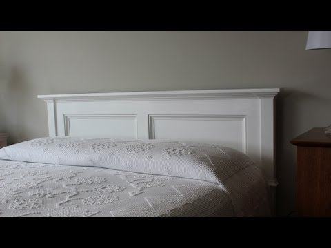 Paint and install the headboard