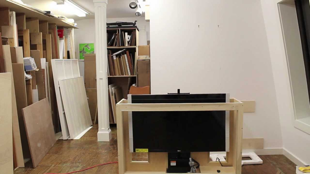 tv lift cabinet diy. Black Bedroom Furniture Sets. Home Design Ideas