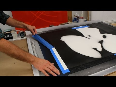 Use a stencil to make a large painting by Jon Peters