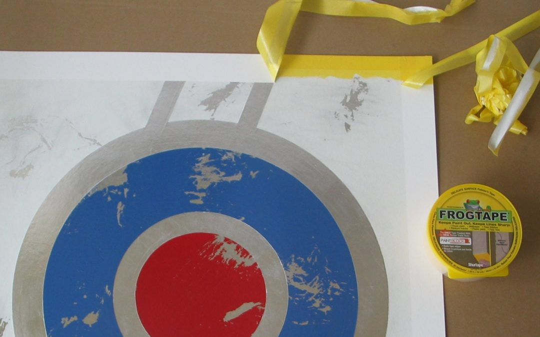 Use Frog tape to make graphic art