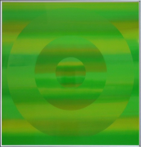 SOLD $8,500 Green in Green (2007) lacquer over acrylic 41 x 41