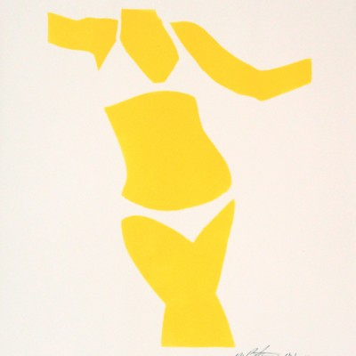 SOLD  Bikine Girl Yellow 6 2 14 . Acrylic on paper