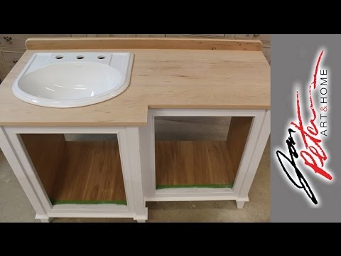 How to make a Wooden Vanity Top and set the Sink
