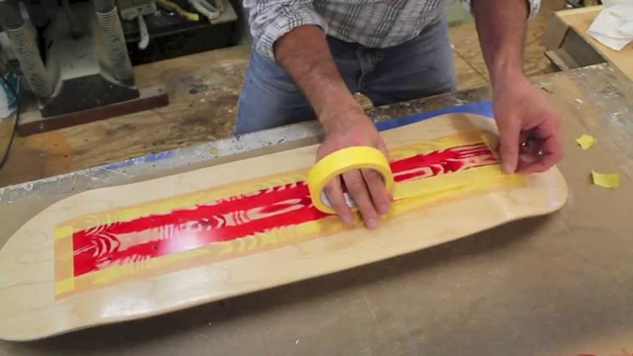 How to use a Wood Graining tool to Paint a Skateboard. + Giveaway #5 by Jon Peters