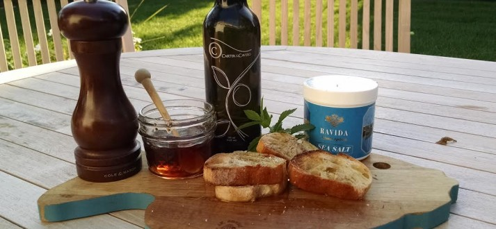 Honey and olive oil outside