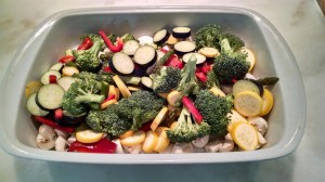 Vegetable medley that doubles as a roasting bed for the chicken (put this in the ingredients section next to vegetables)