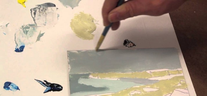 In the Studio 10.19.14 – Mixing Color and Painting a Seascape