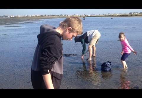 Clamming in the Navesink River