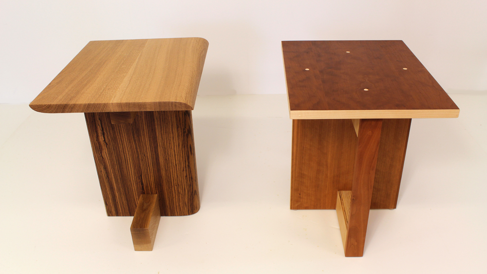 Build a Modern Stool with Zebrawood and White Oak