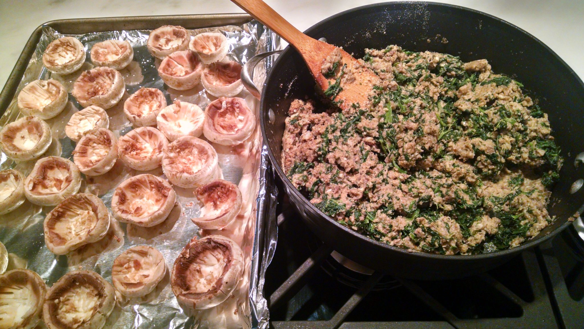 Recipe Thursdays: Stuffed Mushrooms with Sausage & Spinach