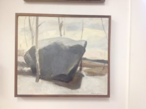Francis Cunningham's boulder painting that inspired by painting below.  Check out a video I made about Francis.