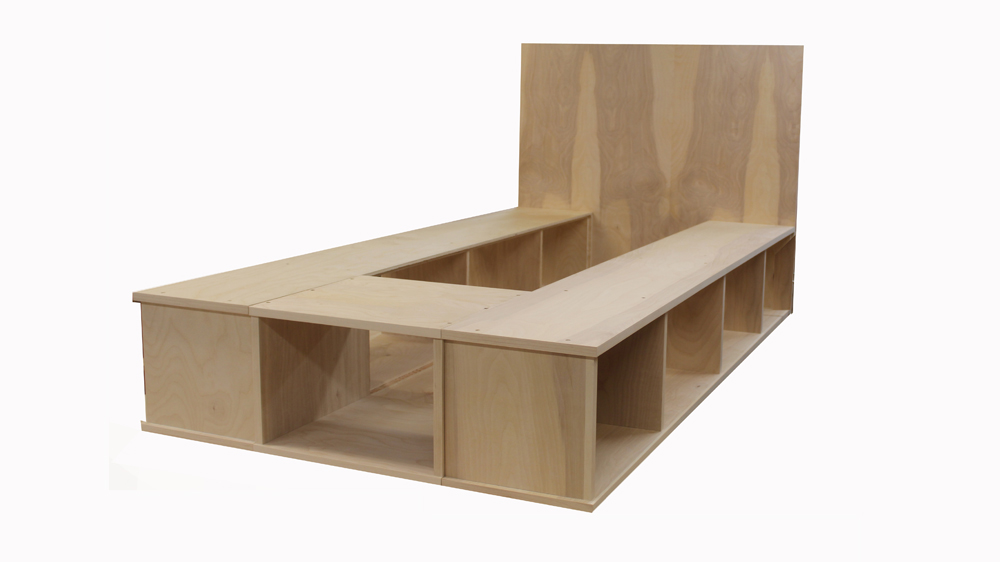 Build a platform Bed with Storage - Art and Home