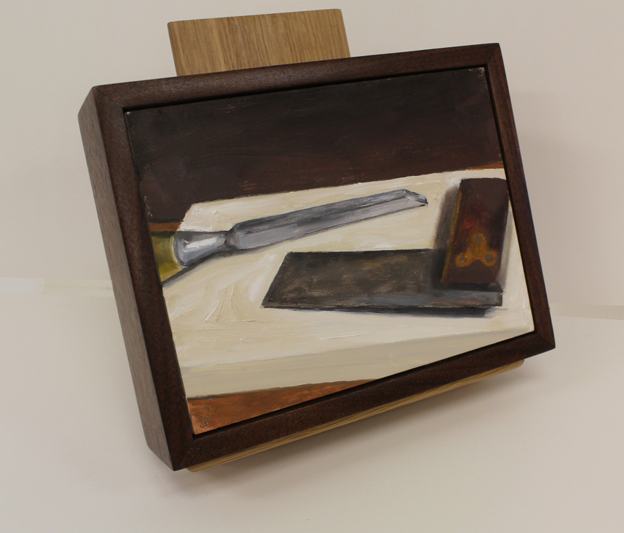 Still Life Painting with Square and Mortising Chisel