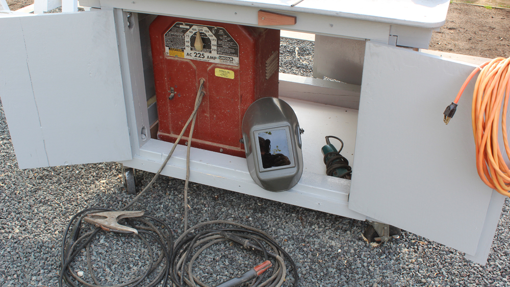 Outdoor Welder Storage Work Table