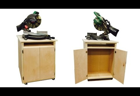 Build a double sided Chop Saw Cabinet.