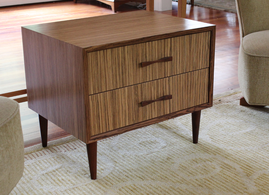 Mid-Century Modern Makeover with Zebrawood Veneer