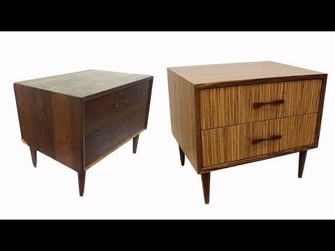 Mid Century Modern Make Over with Zebrawood Veneer