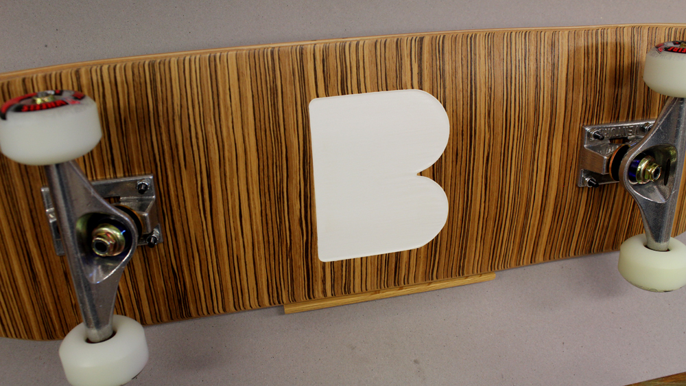 Make a BEME Logo Skateboard with Zebrawood Veneer