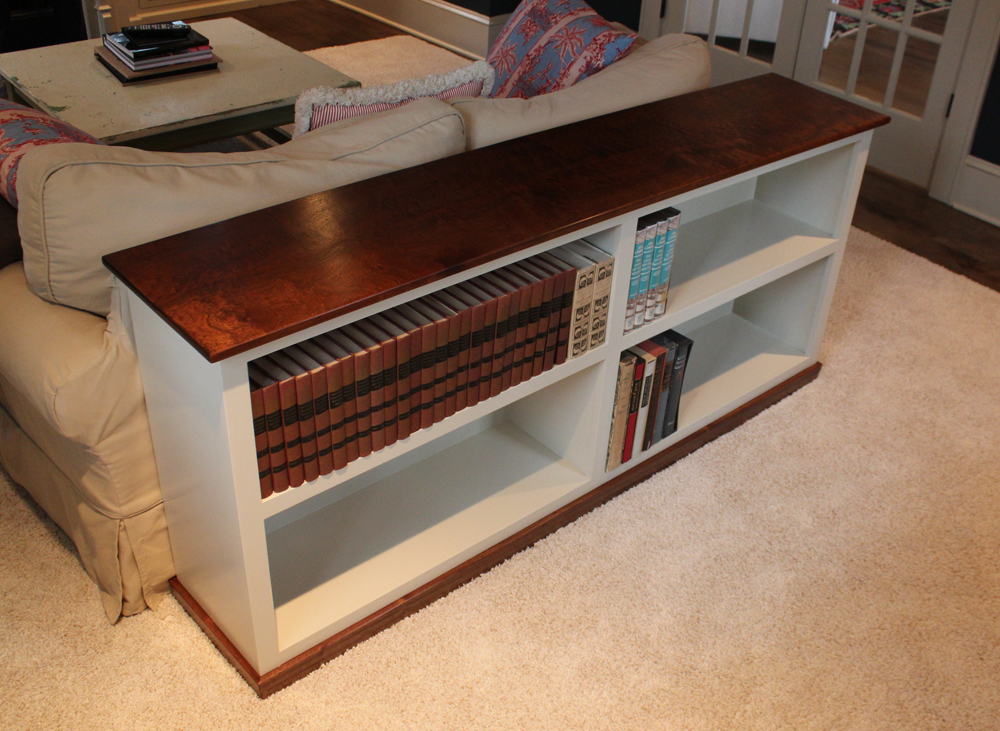 Build a Sofa Table Bookcase – Shortened Version & Design Plans