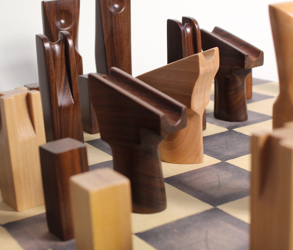 Handmade Wooden Chess Set – Rosewood & Maple
