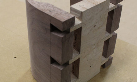 Same Guitar Holder Using Dovetails – Made with Walnut and Birdseye Maple